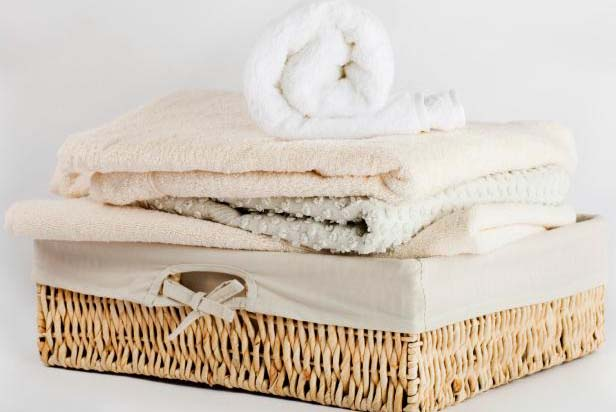 Basket of clean linens